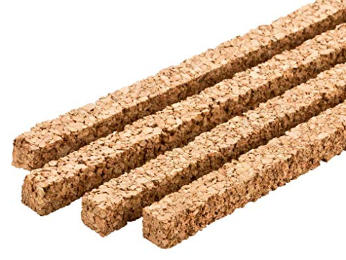 Korkstreifen | Parkett Dehnungsfuge | Dehnungsstreifen aus Kork | Gleisunterlage Modelleisenbahn & Modellbau | Naturkork aus Portugal – Streifen 900 x 10 x 10 mm, 10er-Pack