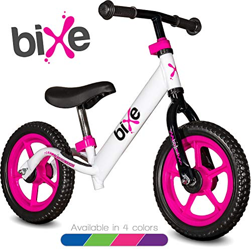 Pink (4LBS) Aluminum Balance Bike for Kids and Toddlers - 12' No Pedal Sport Training Bicycle for Children Ages 3,4,5