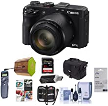 Canon PowerShot G3-X Digital Camera - Bundle with Camera Case, Spare Battery, 16GB SDHC Card, Cleaning Kit, Screen Protector, Pro Software Package, Wired Shutter Release, Memory Wallet, Card Reader