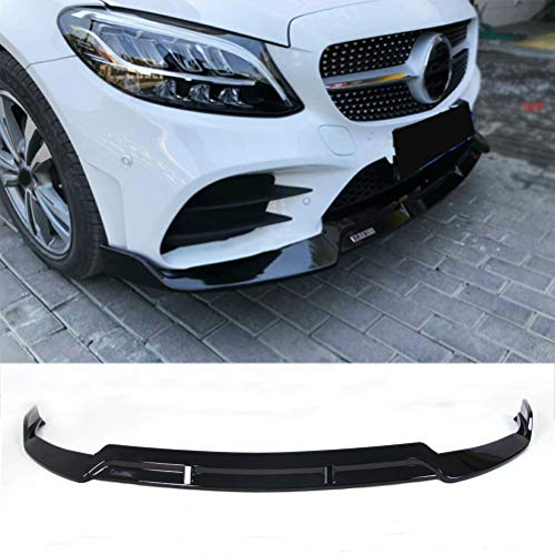 YOUNGERCAR Front Bumper Lip for 2019 2020 Mercedes Benz C-Class W205 Standard Trim Spoiler Splitter Body Kit ABS Gloss Black