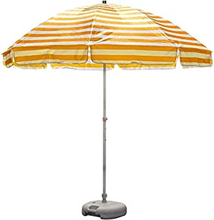8.2ft Patio Umbrella, Umbrella Sun Shade Unshade Umbrella With 8 Ribs - Yellow, Outdoor Market Table Umbrella For Beach Po...