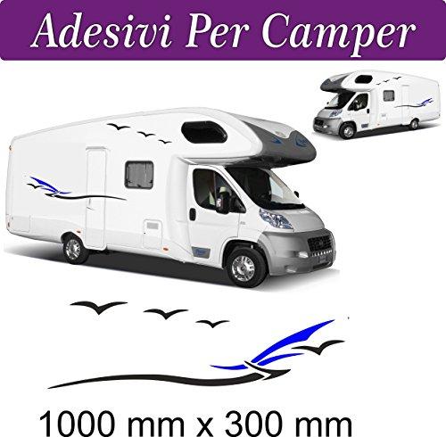 2 SET Adesivi per Camper - novità - HOBBY MOBILVETTA ADRIA HYMER ARCA adesivi per camper - caravan roulotte - accessori camper, stickers, decal