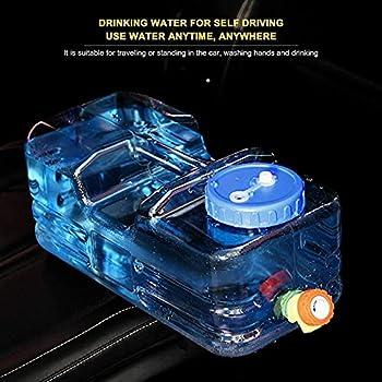 Reservoir Eau Camping Car, 5-15L Réservoirs d'eau Portable Bidon d'eau avec Poignée, Jerrican Alimentaire avec Robinet,Bouilloire Qualité Alimentaire, Bouteille d'eau Multifonctionnelle Réutilisable