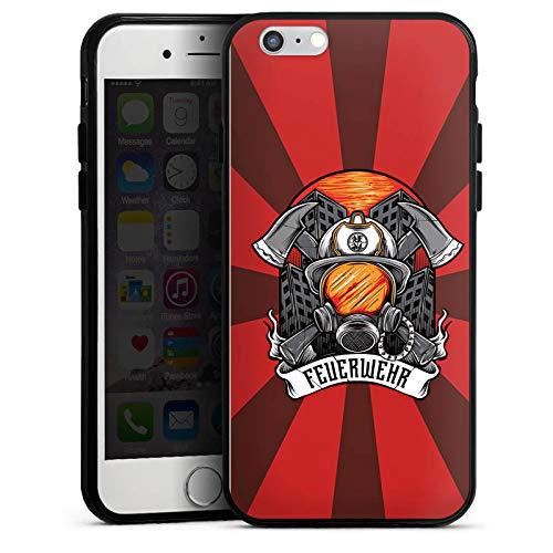 DeinDesign Silikon Hülle kompatibel mit Apple iPhone 6s Case Schutzhülle Feuerwehr Rettungsdienst Feuerwehrmann