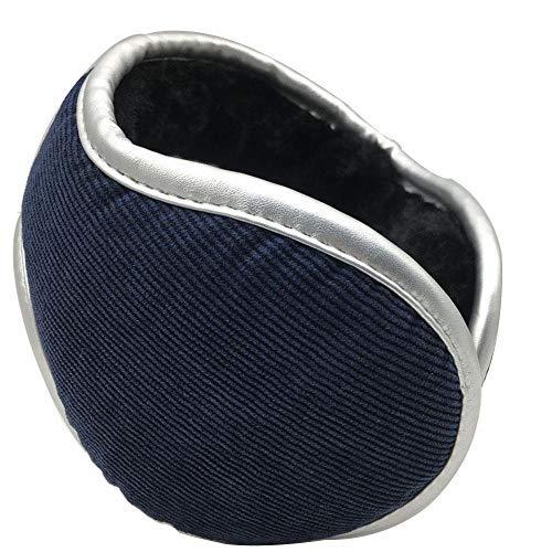ZLININ Y-longhair verstellbare Ohrenwärmer Winter Plüsch Ohrenschützer Kordsamt warm Ohrenschützer Outdoor verstellbar Verdickung Erhöhung Ohrenschützer PU Wrap Earshield (Farbe: D)