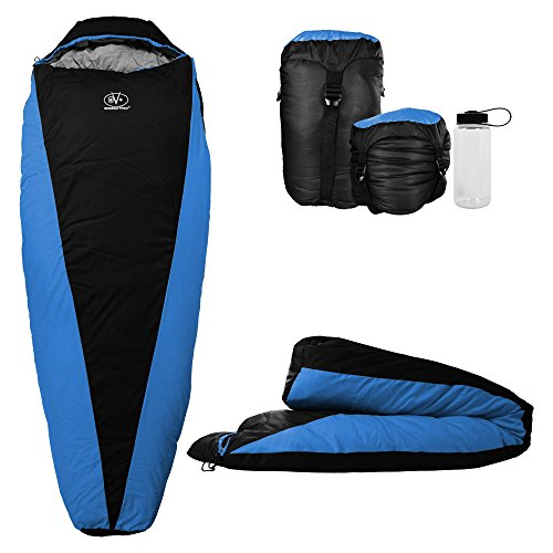 Outdoor Vitals OV-Light 20-35 Degree Backpacking Sleeping Bag, Lightweight and Compact for Hiking and Camping, Ultralight Mummy Bag Design with Premium Insulation for 3 Seasons Includes