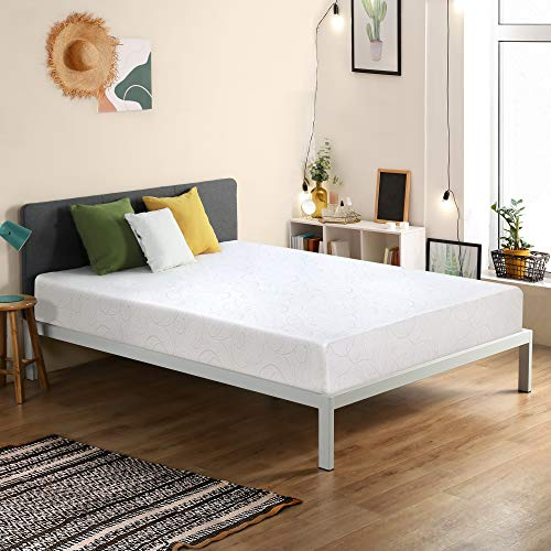 Sleeplace 7 Inch Memory Foam Mattress, White (Twin) (SVC07FM01T)