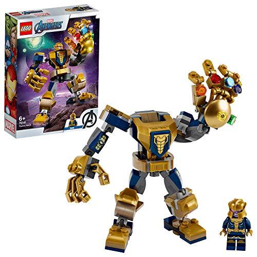 LEGO 76141 SuperHeroes ArmaduraRobóticadeThanos, Juguete de Construcción