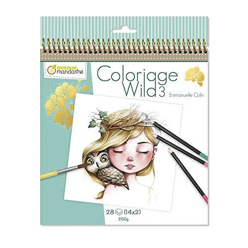 Avenue Mandarine - Cuaderno de colorear Wild 3 by Emmanuelle Colin (Edición colector) (GY077C)
