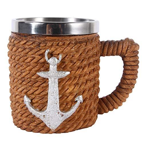 VOANZO Taza de café con Forma de Calavera de Metal con asa...