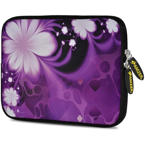 Amzer 10.5-Inch Designer Neoprene Sleeve Case Pouch for Tablet, eBook and Netbook - Purple Contessa (AMZ5104105)