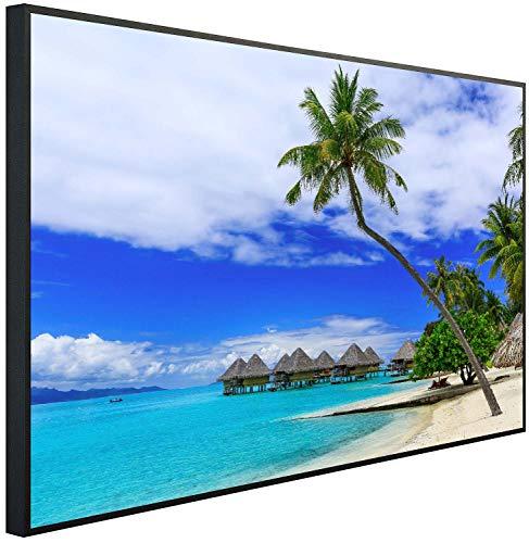 Calefacción por infrarrojos Ecowelle con imagen de 500 W, 80 x 60 x 3 cm, calefacción por infrarrojos, fabricado en Alemania 120x60x3cm