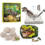 Dinosaur Fossil Digging Kit for kids, Dig It Up! Dinosaur Eggs Excavation Kit, Jurassic Park Dino Fossil Dig Kit, Great STEM Science Kit Gift for Paleontology and Archeology Enthusiasts of Any Age