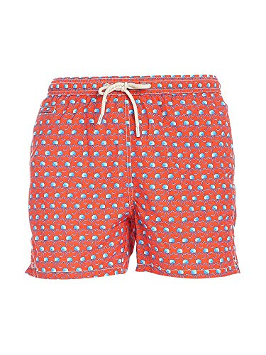 MC2 Saint Barth Luxury Fashion Herren LIGHTINGMICRODNS81 Orange Polyester Badeboxer   Ss21