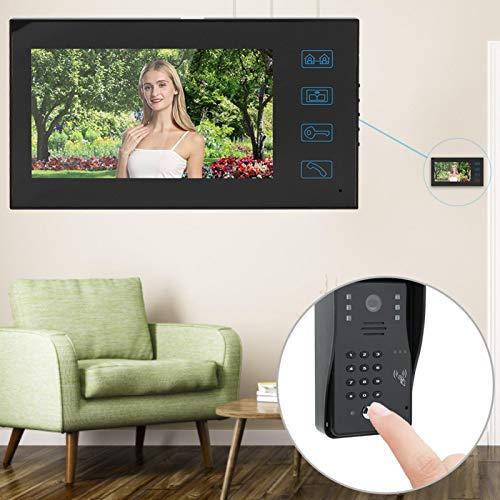 Timbre inteligente de bajo consumo con videoportero con visión nocturna, 25 timbres para seguridad del hogar(Transl)