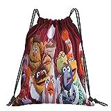 The Muppet Show Classic Mochila con cordón, bolsa de yoga portátil para hombres y mujeres, mochila deportiva, bolsa de almacenamiento de compras