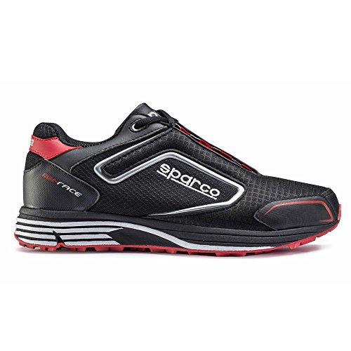 Sparco 00121645NR Schuhe Meccanico Mx-Rennen Nr/Rs Tg 45, schwarz/pink