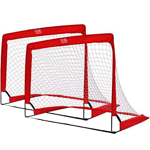 Ocean 5 Goalgetter 2er-Set Popup-Fußballtore, Faltbare Minitore für den Garten, 120 x 90 x 90 cm, Fussballtore für Kinder und Jugendliche, 2 klappbare Tore, auch für Hockey und Handball