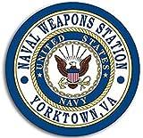 Round Naval Weapons Station Yorktown VA Seal Sticker (Logo Navy ca)