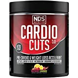 NDS Nutrition Cardio Cuts 3.0 Pre Workout Supplement - Advanced Weight Loss and Pre Cardio Formula with L-Carnitine, CLA, MCTs, L-Glutamine, and Safflower Oil - Razz Lemonade (40 Servings)