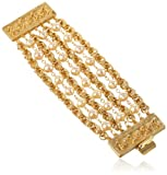 Ben-Amun Jewelry Gold and Pearl Multi-Row Bracelet, 7""