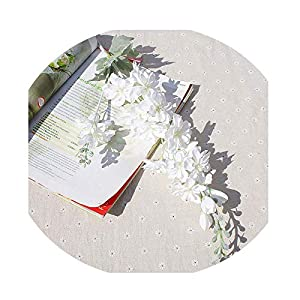 Sevem-D 1 Bundle Artificial Plants Vases for Home Decor Household Products Silk Delphinium Decorative Flowers-1
