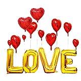 Globodeláminade corazón de Decoparael Díade San Valentín, Globos Corazones Globos Rojo, paraBodas Nupcial Aniversarioy Compromiso Decoración Díade La Madre
