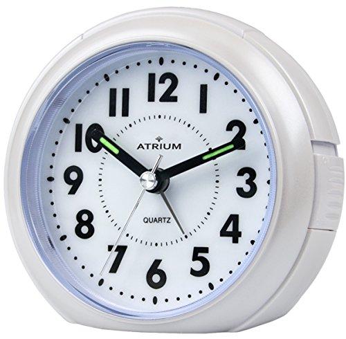Atrio Despertador Análogo blanco sin Tic Tac, con luz y snooze a240-0