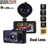 GOFORJUMP 3 Pulgadas Dual Lente Full HD 1080 P LCD Tacógrafo Coche DVR Cámara de Video Grabadora de conducción Dash Cámara con G-Sensor