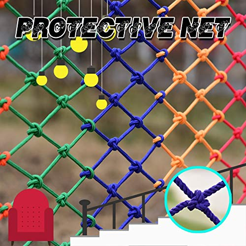 For Rail Balkon Leuning Stair Speeltuin Kinderen Indoor Decoratie Outdoor Child Safety Net, Decor Net Protection Fence Climbing Woven Rope Truck Cargo Trailer Netting Net Mesh Nets (polyester)