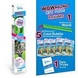 WOWMAZING Giant Bubbles Kit Plus - Great Value - Big Bubbles kit Including Big Bubble Wand and Giant Bubble Solution Concentrate (Makes 1.5 Gallon of Large Bubbles)
