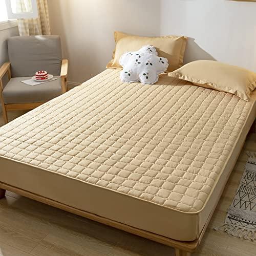 BAJIN Sábanas, sábana bajera acolchada gruesa con banda elástica de terciopelo, funda de cama de lujo, sábana bajera de microfibra cepillada, 48 x 74 cm, 2 unidades