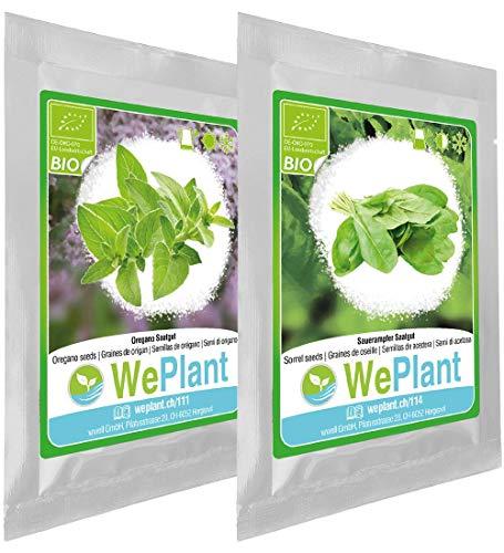 BIO Origan & Oseille - Graines de plantes aromatiques/Intérieur & Extérieur