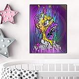 Cuadro en lienzo artista famoso Lisa Simpson Color Ja ja boca póster e impresiones cuadros artísticos de pared para niños 70X100cm sin marco