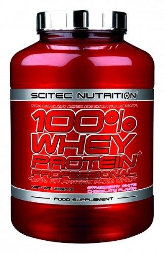 Scitec Nutrition 100{e5f3260c2b693d29daa19e6b0dd9954343be18416ab26298abf24a6056e80e16} Whey Protein Professional 2350 g Erdbeere Weiße Schokolade