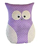 Handmade Design - Lavendelkissen - Duftkissen - mit echtem Lavendel (Eule groß - Lila, 24 x 32 cm),...