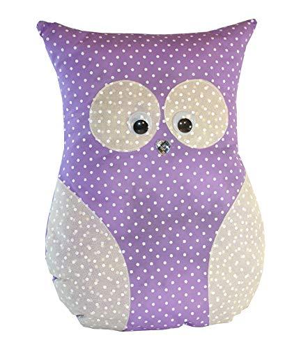 Handmade Design - Lavendelkissen - Duftkissen - mit echtem Lavendel (Eule groß - Lila, 24 x 32 cm)