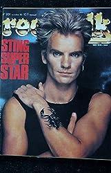 ROCK & FOLK 201 OCTOBRE 1983 COVER STING + POSTER Leiber et Stoller Charlélie Couture OTH bernard Lavilliers