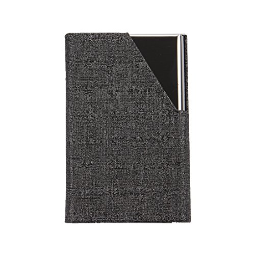 Vanki Business Name Card Holder Luxury PU Leather & Stainless Steel Multi Card Case,Business Name Card Holder Wallet Credit card ID Case / Holder For Men & Women, with Magnetic Shut( Gray) 1pcs