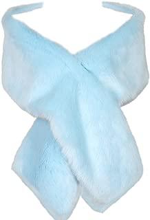 Dikoaina Women's Winter Faux Fur Scarf Wrap Collar Shawl Shrug