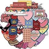 YZFCL Alfabeto Progress Strip Pink Love Maleta Laptop Sticker Doodle Decoración Venta al por Mayor 50PCS