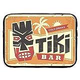 Tiki Bar Vintage Cartel de Chapa con máscara Hawaiana de Tiki Bolso para portátil con Cremallera...