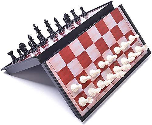 チェスセット 折りたたみチェスボード 国際チェス 収納便利 (L)