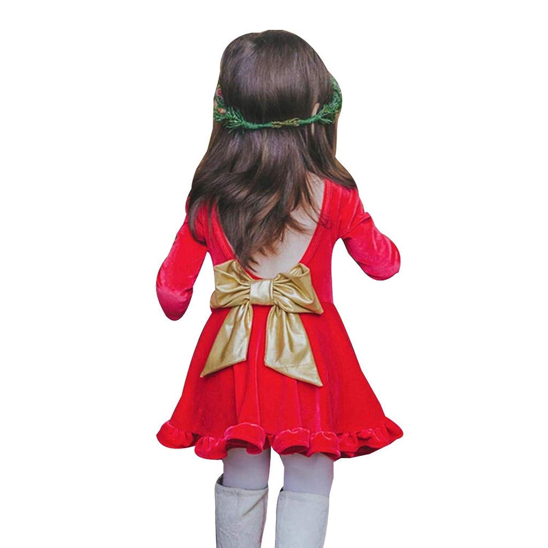 子供ドレス Timsa 女の子 キッズ ワンピース 可愛い 花柄 女児 ガールズ フォーマル スカート 発表会 結婚式 入園式 演奏会 花嫁介添人 七五三 卒業式 ちょう结び飾り ベアバック 洋服 クリスマス パーティー 新年会 イブニングドレス 写真 撮影 レッド