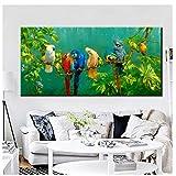 Jwqing HD Print Malerei - Tier Papagei Home Decor