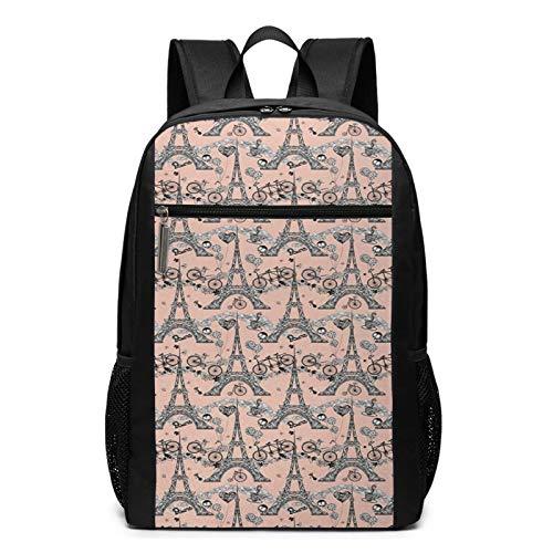 Schulrucksack Fahrräder Kaffee er Luftballons, Schultaschen Teenager Rucksack Schultasche Schulrucksäcke Backpack für Damen Herren Junge Mädchen 15,6 Zoll Notebook