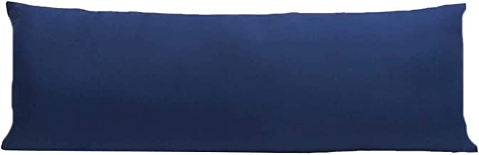 Bedding King Cotton Satin Ultra Soft Body King, Maternity and Hugging Pillow, Large, 20X54-inch(Blue)