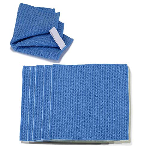 Microfiber Cleaning Cloths 15.5x13.5cm-for Eyeglasses, Sunglasses, Camera Lenses, Computer Screens, televisions and telescopes 5 Pack