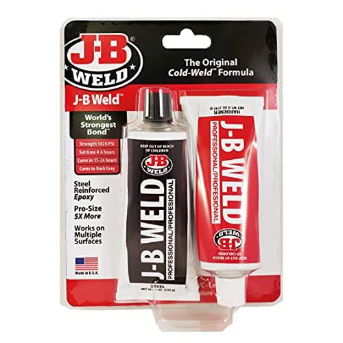 J-B Weld 8281 Professional Size Steel Reinforced Epoxy Twin Pack-10 oz, 10. Fluid_Ounces