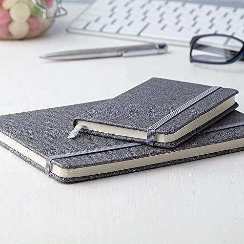 Antevia – Juego de 2 cuadernos A5 y A6   Más de 40 modelos   2 x 80 hojas rayadas   Material: piel sintética   Color: gris (Gabbro)